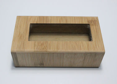 Custom Logo Natural Color Type Bamboo Gift Box With Clear Glass Top Window