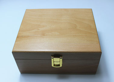 Lacquered Unfinished Wood Gift Packaging Boxes , Watch Display Wooden Box With Lock