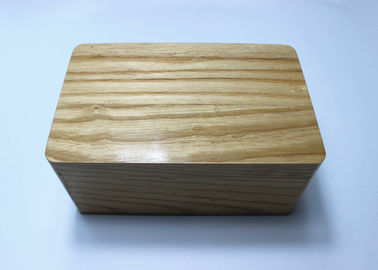 Custom Made Small Wooden Gift Boxes , High Gloss Natural Wood Boxes With Hinged Lids