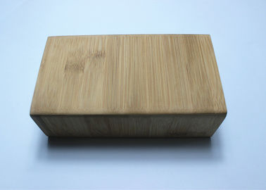 Handmade Natural Color Packaging Bamboo Gift Box , Bamboo Wood Box With Hinged Lid