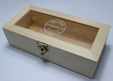 China Acrylic Top Lid Handmade Wooden Boxes Handmade Style Bamboo Wood Material supplier