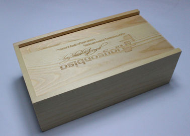Sliding Lid Handmade Wooden Boxes , Handcrafted Wooden Boxes For Photos / Usb
