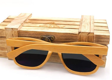 Handmade Wooden Glasses Packaging Boxes , Gift Packaging Pine Wooden Storage Box