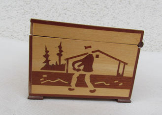 Tarot Card Packaging Pine Wooden Storage Box With Lacquer Customized Logo