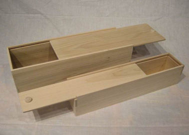 Sliding Top Rectangle Solid Wood Bamboo Gift Box, China Handmade Wooden Tool Boxes Suppliers