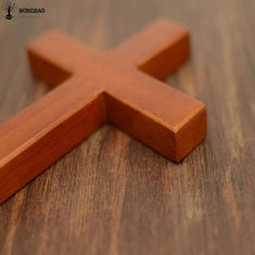 Holding Hand Olive Pine Wood Solid Unfinished Wooden Crosses , Wooden Pocket Crosses