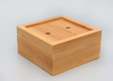 Durable Natural Bamboo Soap Box , Custom Bamboo Boxes For 0.7cm Thickness