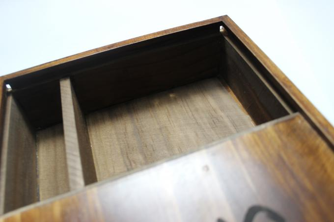 Wedding Gift Slide Top Wooden Box , Pine Square Wooden Box With Lid
