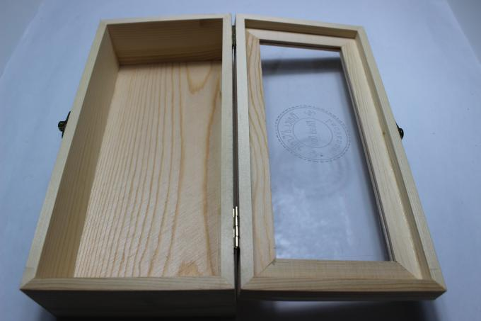 Acrylic Top Lid Handmade Wooden Boxes Handmade Style Bamboo Wood Material